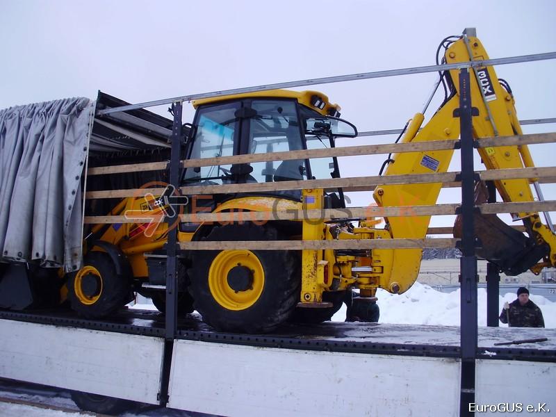 экскаваторов JCB CX3 перевозка в грузовике