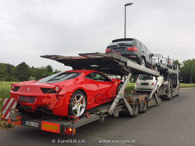 Ferrari, BMW X5 и другие машины готовы к отправке в Москву