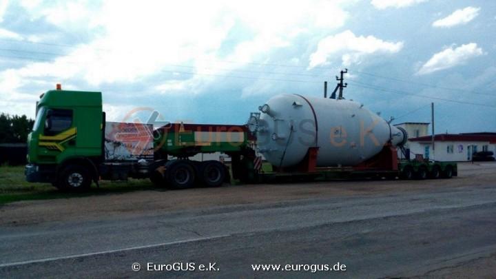 перевозка цистерн из чехии в украину на низкорамном прицепе