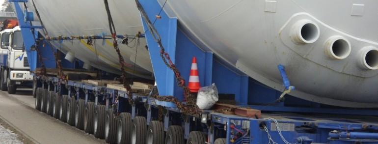 Низкорамный трал для транспортировки негабаритных грузов из Германии и Европы