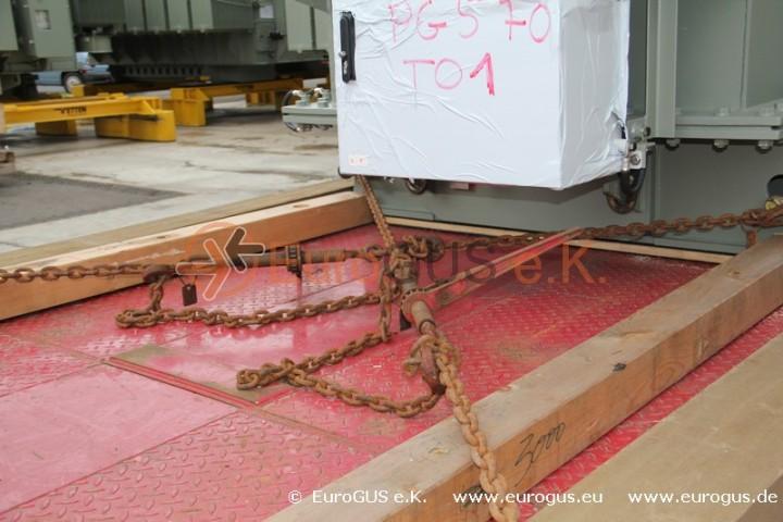 Крепление трансформатора на низкорамном прицепе