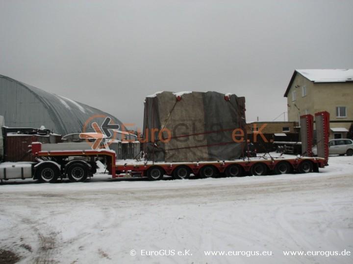 Цена перевозки трансформатора из Германии