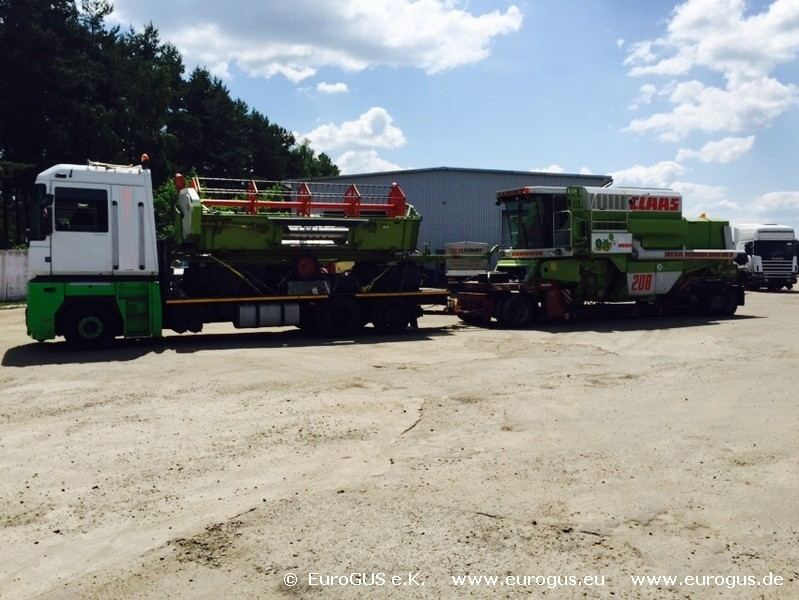 перевозка зерноуборочного комбайна из Германии CLAAS MEGA 208