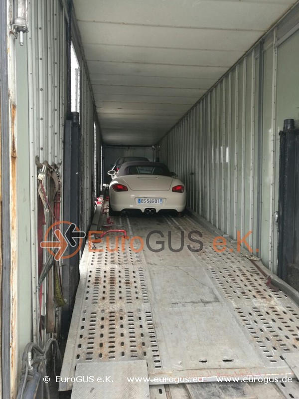 Порше, перевозка в крытом автовозе из Ниццы eurogus