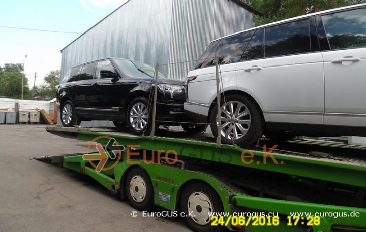 Крытый автовоз, доставка авто из Германии в Москву range rover eurogus