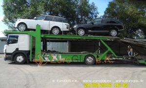 Доставка авто на автовозе range rover