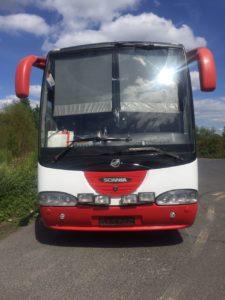 Перегон автобуса Scania из Германии в порт Антверпен