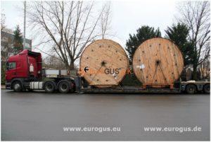 Перевозка     кабеля     в барабанах из Германии в Казахстан, Астана