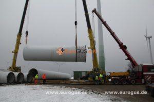 часть трубы ветрогенератора загрузка на спецтранспорт из германии eurogus