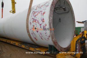 нижняя часть трубы ветрогенератора загрузка на спецтранспорт из германии eurogus
