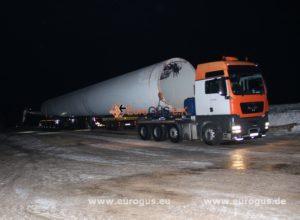 спецтранспорт для транспортировки ветряка из германии в модадвию eurogus