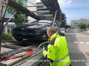 Электромобиль Тесла из Европы в Россию eurogus