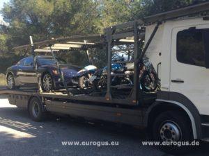 Доставка авто и мотоциклов из / в Ницца, Монако, Москва eurogus