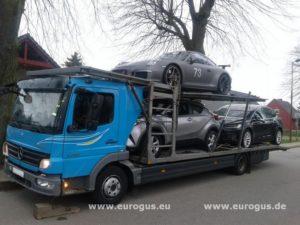 загруженный автовоз эвакуатор в германии