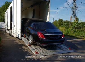 Mercedes Maybach Lang eurogus на крытом автовозе тюнинг