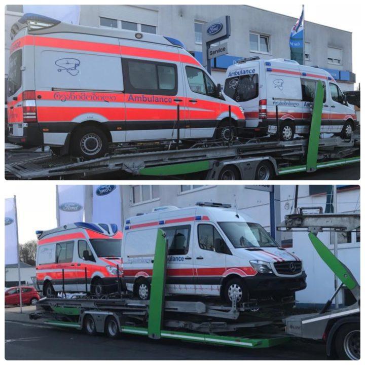 доставка автомобилей скорой помощи из германии в грузию на автовозе eurogus