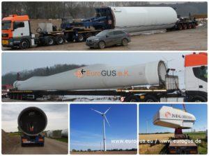 Перевозка ветряков из Германии в Россию, Казахстан, Узбекистан, Беларусь, по территории ЕС, eurogus