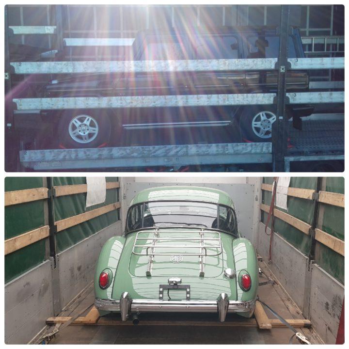доставка авто в крытом автовозе, кузов грузового авто eurogus