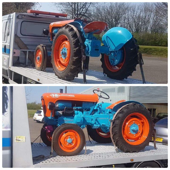 доставка раритетного трактора ламборгини lamborghini из Англии в Германию eurogus