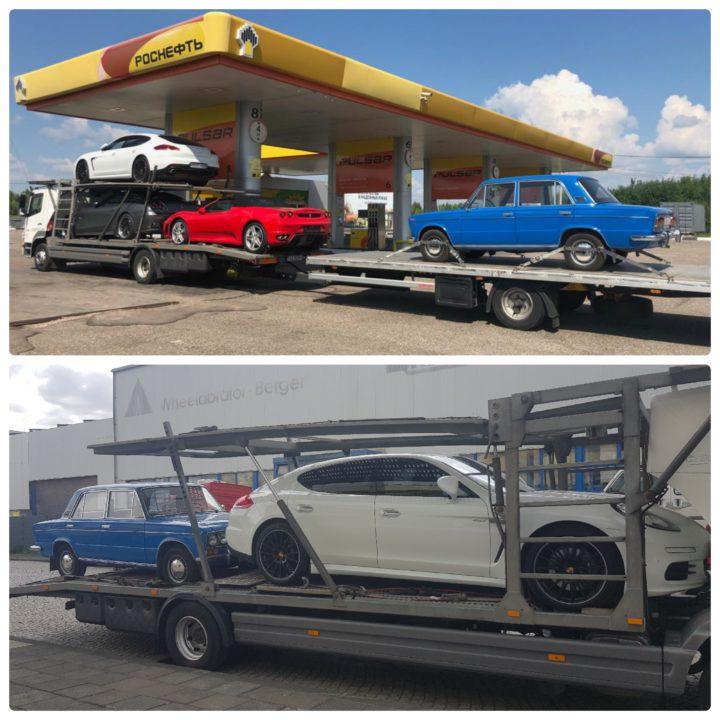 доставка автомобилей из Москвы в Германию: Порше, Феррари, ВАЗ, eurogus
