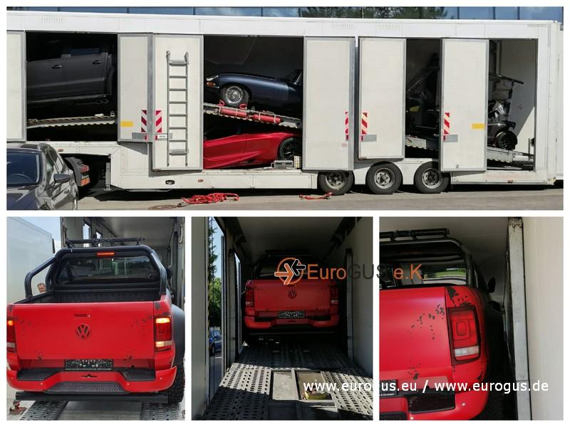 VW Amarok перевозка из германии на крытом автовозе эвакуаторе
