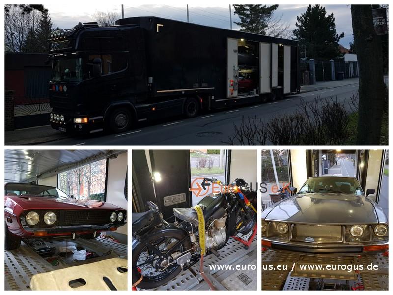 Доставка раритетных авто из Германи на крытом автовозе